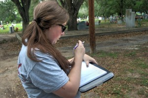 Erica in her natural habitat, mapping.