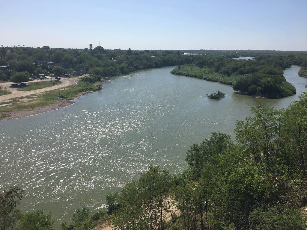 Overlook of the Rio Grande River into Mexico