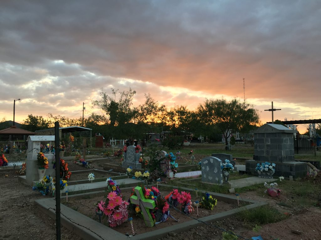 Sunrise over RGC Cemetery