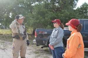 Deputy Don giving us instructions on our search for the day