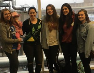 The five of us and Eleanor at the airport