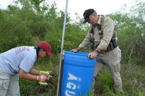 Deputy Don White and I repairing a water station