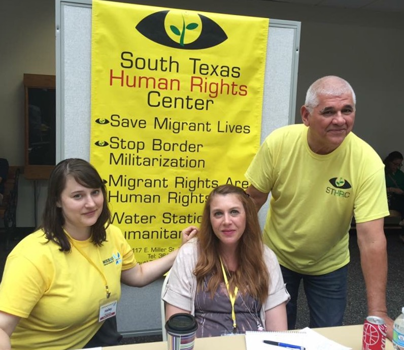 With Hailey Duecker and Eddie Canales at the STHRC booth