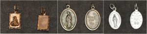 Religious charms that were carried by a female that perished in 2012