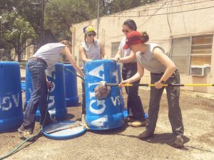 Cleaning barrels for redistribution